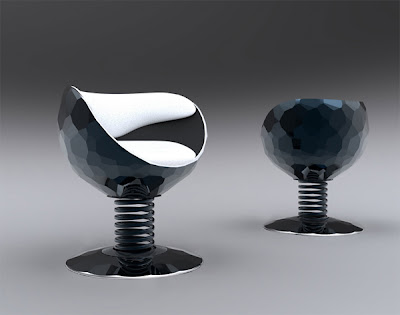 diseño industrial silla futurista