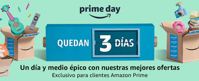 11 ofertas Quedan 3 días para el Amazon Prime Day