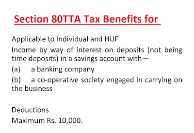 Section 80TTA Tax Benefits for NRI save 10000 INR