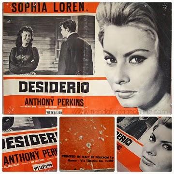 Carteles de cine antiguos en papel. Comprar posters de cine antiguos años 50 y 60 de peliculas sophia Loren anthony perkins