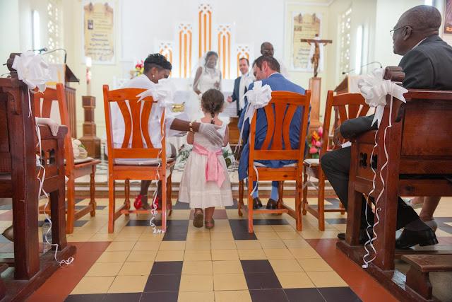 guadeloupe, mariage église de Baie-Mahault