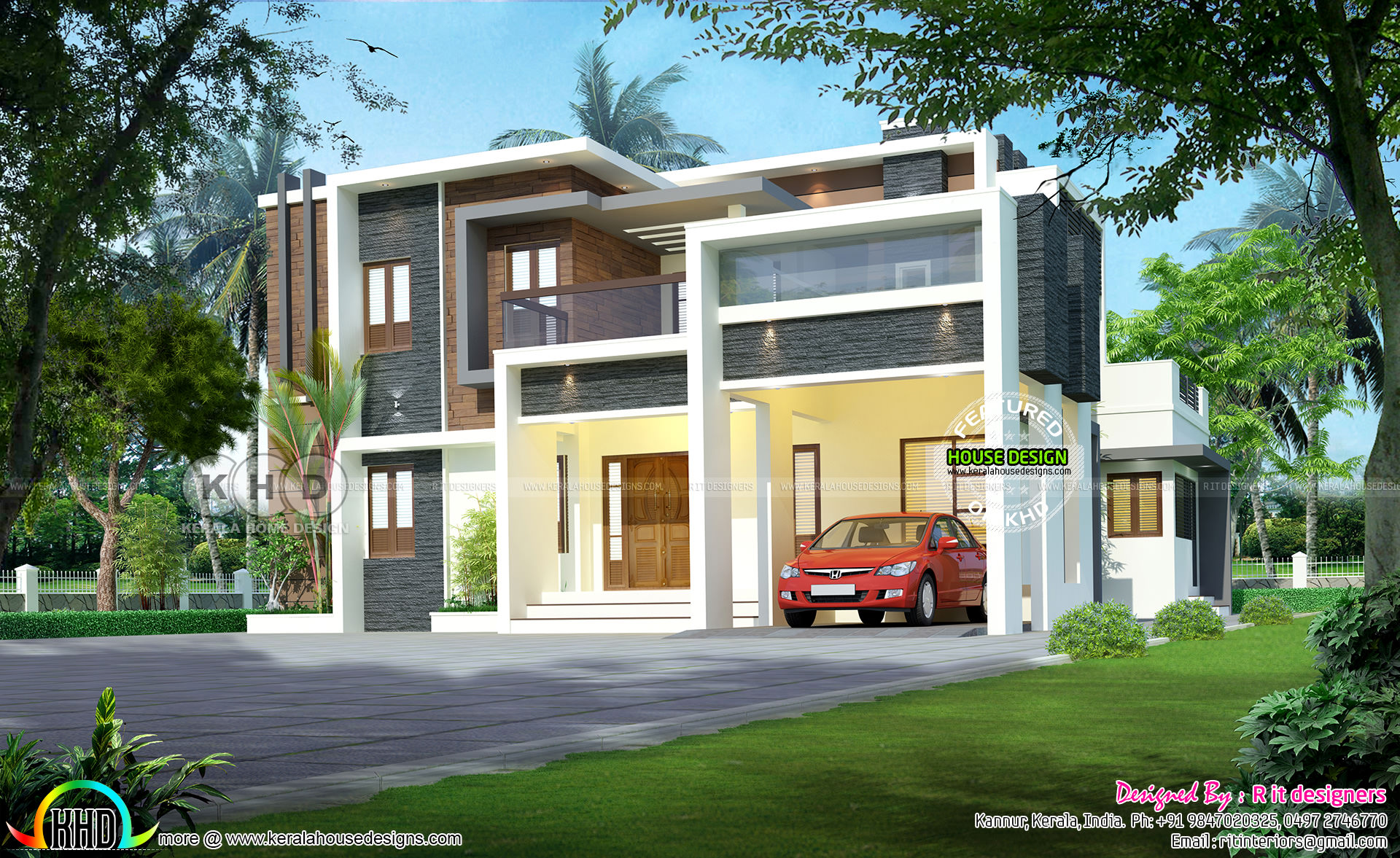 Beautiful modern house with 4 bhk kerala home design and for 4 bhk home design