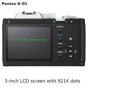 Pentax K-01 display