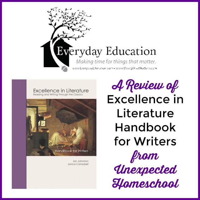 Review of Excellence in LIterature Handbook for Writers - a high school and college writing reference.