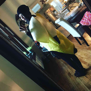 Lucy hale (Aria on PLL) as banana for Halloween