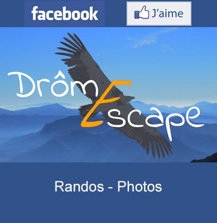 Cliquez et retrouvez DrômEscape sur facebook