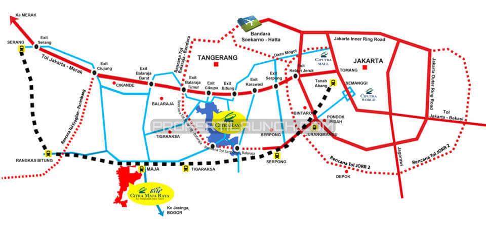 Peta Lokasi CitraRaya