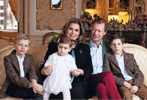 The Hereditary Grand Duke,The Hereditary Grand Duchess, Prince Félix, Princess Claire, Princess Amalia, Prince Louis, Princess Tessy, Prince Gabriel, Prince Noah, Princess Alexandra, Prince Sébastien