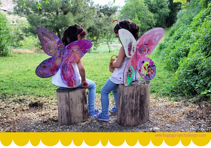 DIY disfraz mariposa de cartón