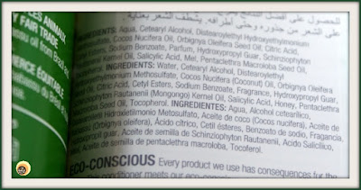 INGREDIENTS OF THE BODY SHOP RAINFOREST MOISTURE CONDITIONER