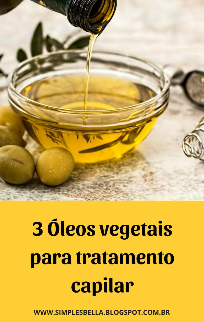 Óleos vegetais para tratamento capilar
