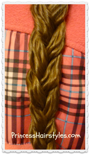 "textured braid using ""noodle curls"""