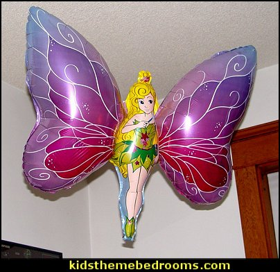 Flying Fairy balloon  tinkerbell party supplies - Tinkerbell party decorations - Disney fairies party supplies - party themes fairies -  tinkerbell peter pan party supplies - tinkerbell costume -  tinkerbell balloons