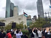 Allahu Akbar, Allah Memenangkan Palestina, Bendera Palestina Berkibar di Kantor PBB