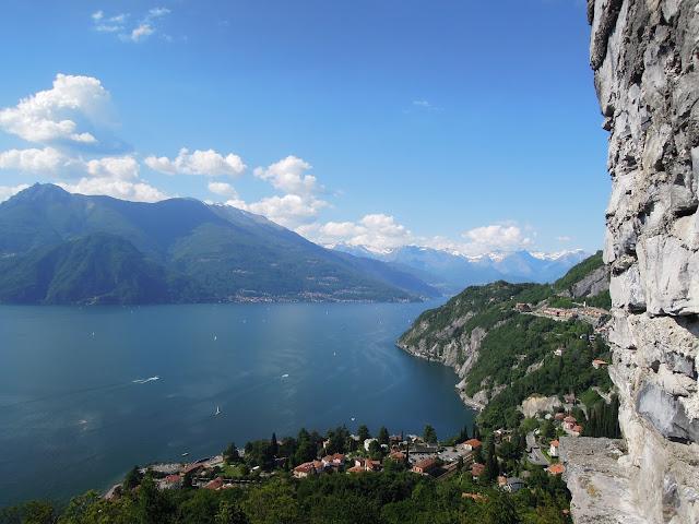 Panorama sul Lago di Como dal Castello di Vezio