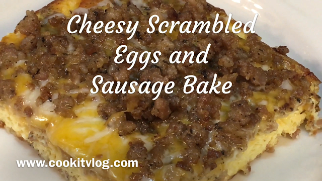 Cheesy Scrambled Eggs and Sausage Recipe