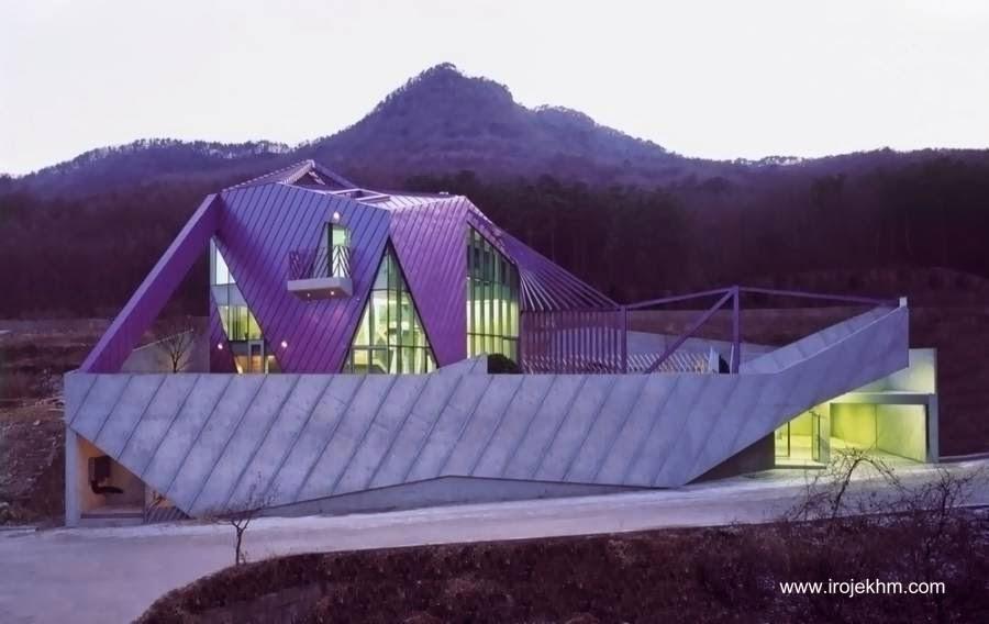 Casa de campo posmoderna en Corea del Sur