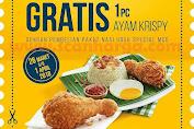 Promo MCDONALDS Terbaru Gratis 1 Pcs Ayam Krispy