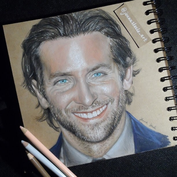 02-Bradley-Cooper-Jenna-Steele-Collection-of-Pencil-Drawings-www-designstack-co