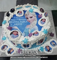 Kue Tart Ulang Tahun Edible Image Frozen Elsa