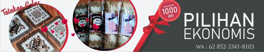 Promosi Souvenir Pernikahan Harga 1000an