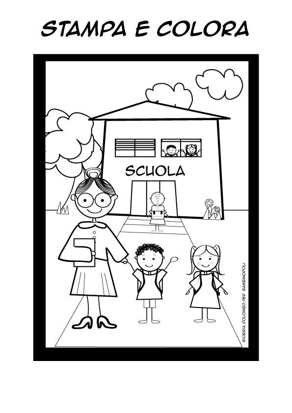 Disegno Di Scuola Da Colorare.Disegni Da Colorare Scuola Primaria Stampae Colorare
