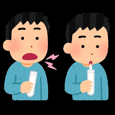 喀痰検査のイラスト