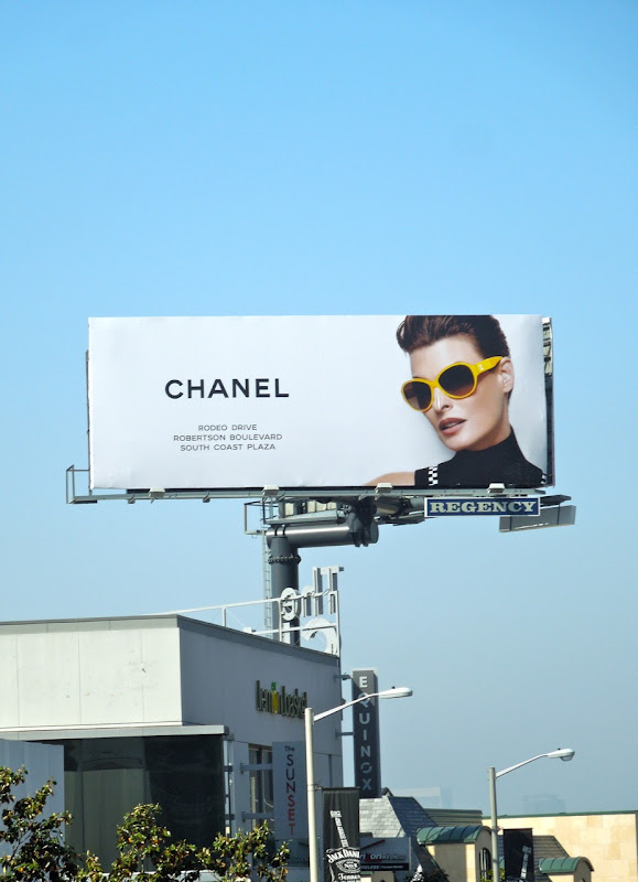 Chanel yellow sunglasses billboard
