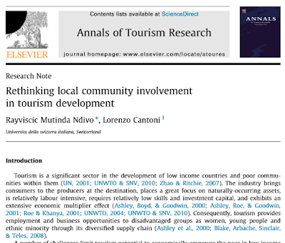 Rethinking local community involvement in tourism development