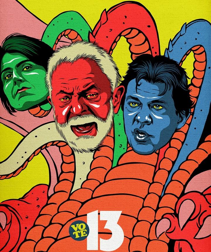 Os candidatos à Presidência da República como desenho animado