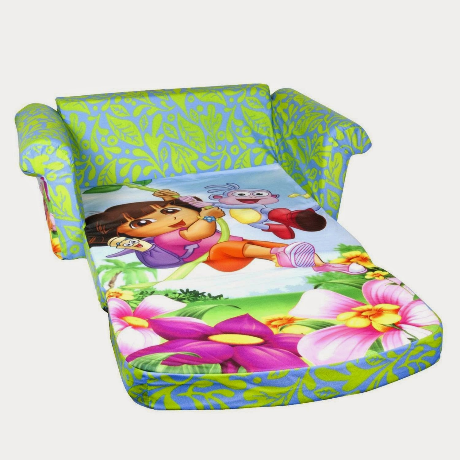 Kids couch kids foam couch for Foam pull out sofa bed