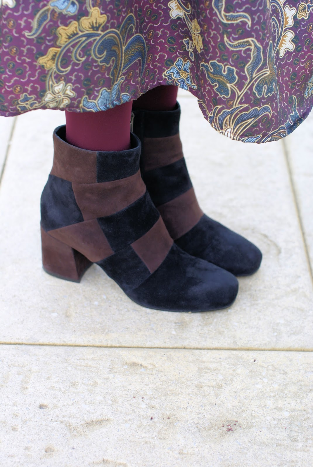 Le Silla patchwork suede ankle boots on Fashion and Cookies fashion blog, fashion blogger style