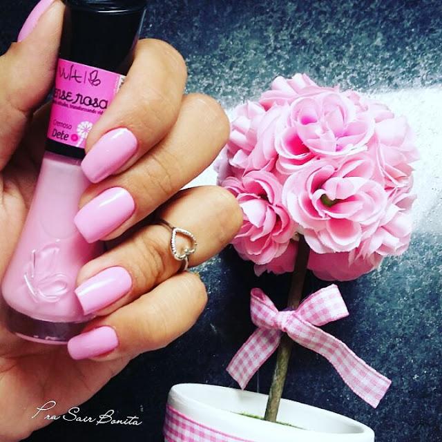 esmalte rosa cor dete