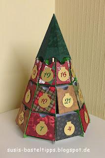 Weihnachtsbaum-Adventskalender diy schachteln silhouette cameo by jennifer maker