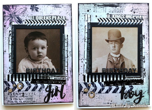 Boy And Girl Birthday Cards With Video Tutorial Made By Sannie