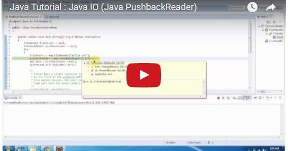 Java ee java tutorial java io java pushbackreader for Pool design pattern java
