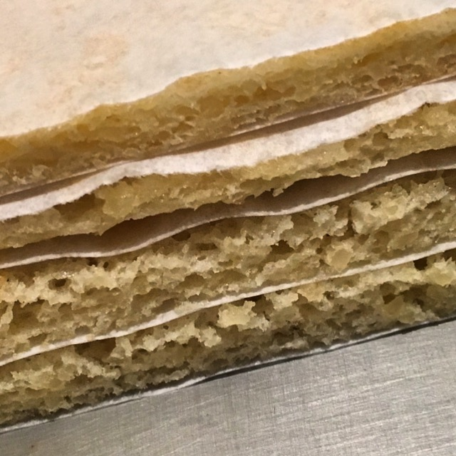 Layers of Joconde Biscuit (Sponge Cake)