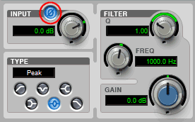 Pro Tools EQ Filter Showing Phase Invert Switch