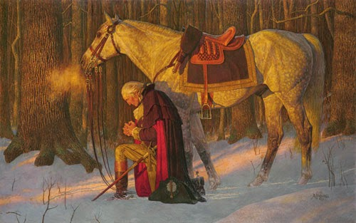 The Prayer at Valley Forge painting