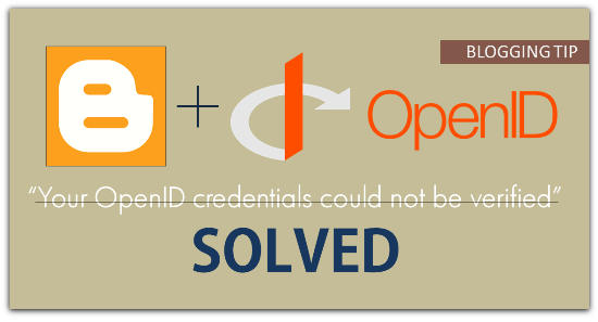 Fix Your OpenID credentials could not be verified