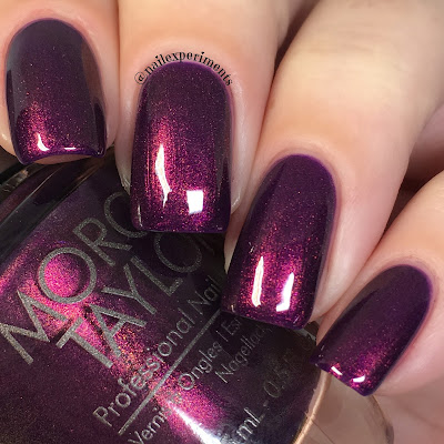 morgan taylor plum-thing magical swatch the little miss nutrcracker 2017 collection