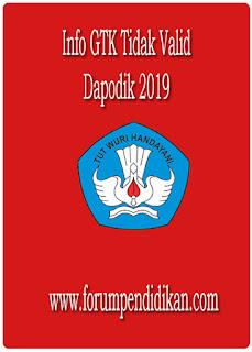 Info GTK Tidak Valid, Dapodik 2019