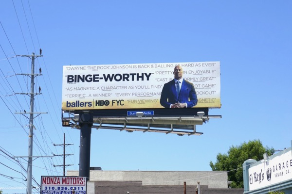 Ballers season 3 Emmy FYC billboard