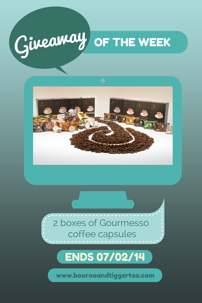 Gourmesso coffee capsules #Giveaway - Boo Roo and Tigger Too