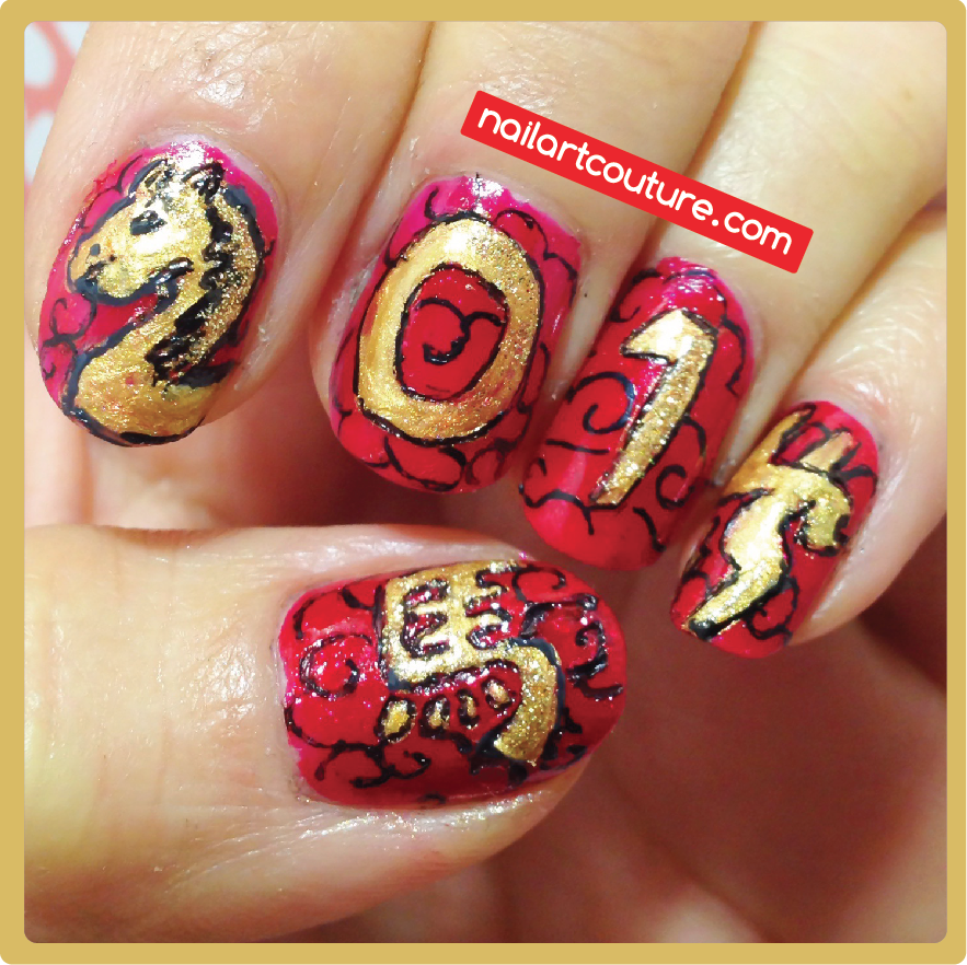 Simple Nail Art For Chinese New Year: Nail Art Couture★ !: Chinese New Year Nails: Horse