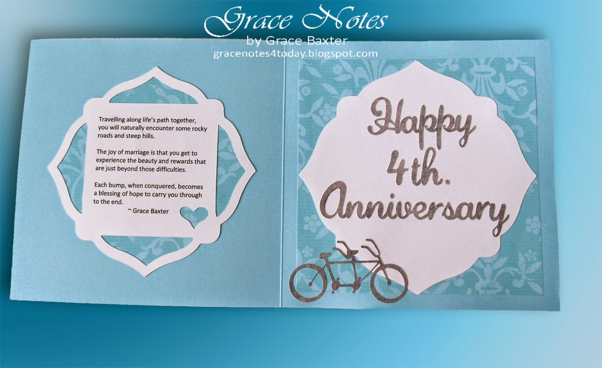 bicycle-built-for-two, 4th anniversary card front