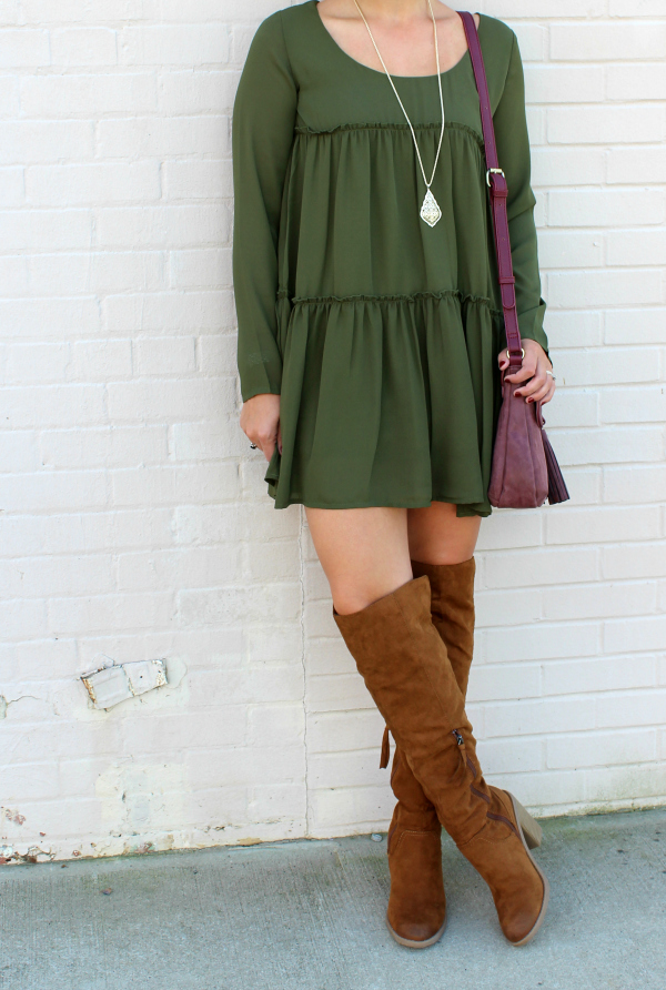 tobi, fall dress, how to style a dress for fall