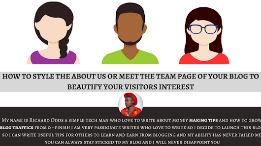 HOW TO STYLE THE ABOUT US OR MEET THE TEAM PAGE OF A BLOG TO BEAUTIFY YOUR VISITORS INTEREST