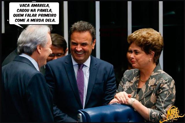 Imagens zuando a Dilma