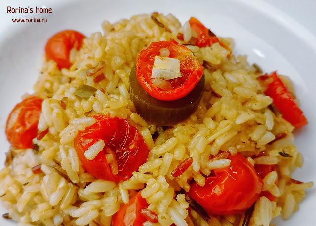 Ризотто с помидорами черри: пошаговый рецепт
